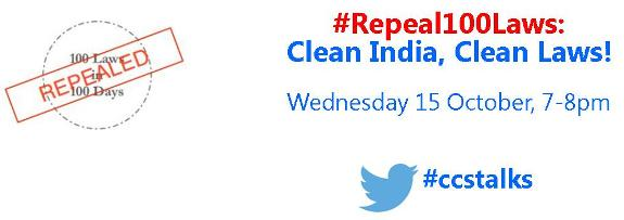 TweetChat on #Repeal100Laws