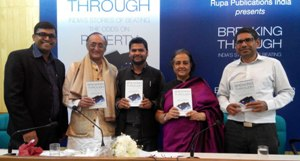 Book Launch of Meera Mitra's Breaking Through, which features chapters on our work in Delhi (School Vouchers) and Rajasthan (Street Vendors)
