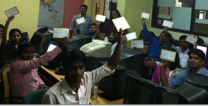 Students with their Vikalp vouchers during their training