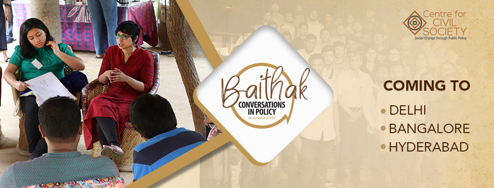 Register now for Baithak: Conversations in Policy