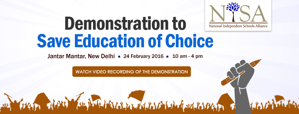 Demnostration to Save Education of Choice | 24 February 2016 | 10am-4pm