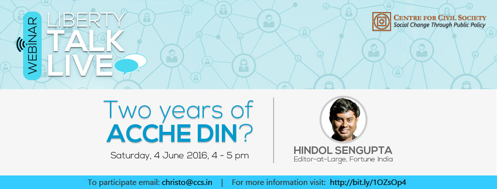Webinar on Two years of Acche Din?