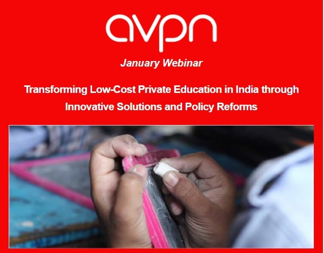 Webinar on Transforming low-cost Private Education in India